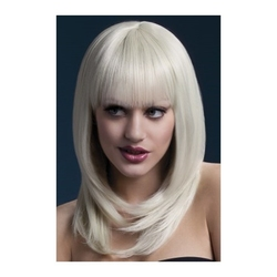 Blond peruka z grzywką
