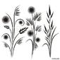 Tapeta ścienna japońskie wzory kwiatowe