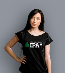 Grupa krwi ipa+ t-shirt damski czarny xxl