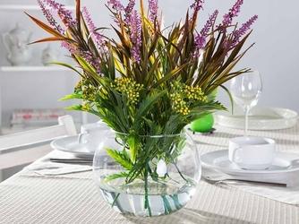 Wazon kula szklany na kwiaty edwanex średnica 17,5 cm