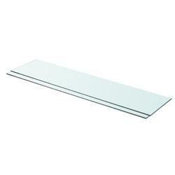 Vidaxl półki, 2 szt., panel z bezbarwnego szkła, 90 x 20 cm