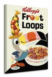 Vintage Kelloggs Fruit Loops - Obraz na płótnie