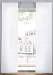 Nieprześwitująca zasłona panelowa w strukturalny wzór 1 szt. bonprix biały