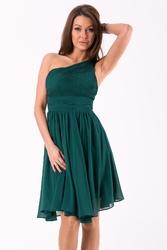 Evalola sukienka butelkowa zieleń 46037-1