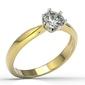 Pierścionek zaręczynowy z żółtego i białego złota z cyrkonią ap-3668zb-c