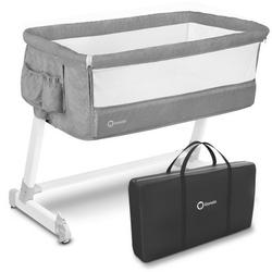 Lionelo theo concrete łóżeczko dostawne + moskitiera + torba