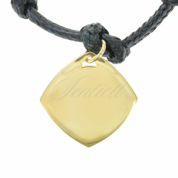 Srebrna zawieszka do bransoletki pr.925 złocony romb do grawerowania