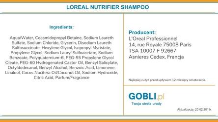 Loreal nutrifier, szampon nawilżająco-odżywiający bez silikonów 1500ml