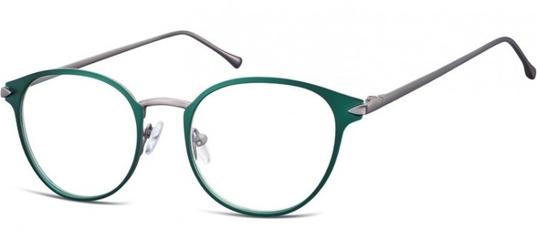 Oprawki okularowe kocie oczy damskie stalowe sunoptic 940d zielone