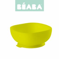 Beaba, Silikonowa miseczka z przyssawką, yellow