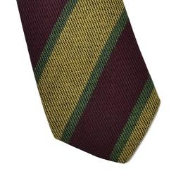 Wełniany krawat van thorn w żółte i bordowe pasy