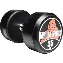 35 kg Hantla stała gumowana profesjonalna Gorilla Sports