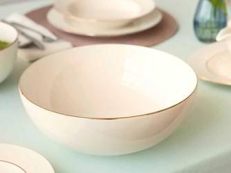 Salaterka  miseczka okrągła porcelana mariapaula nova ecru złota linia 25 cm