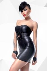 Seksowny komplet heidi czarny xl | 100 dyskrecji | bezpieczne zakupy