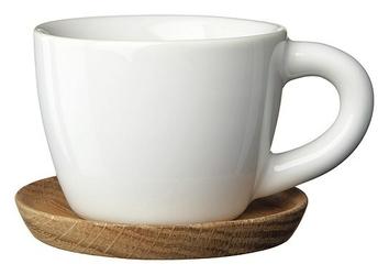 Filiżanka z podstawką do herbaty Höganäs Keramik biała
