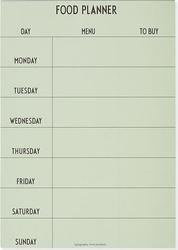 Planer tygodniowy posiłków design letters zielony