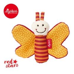 Mini przytulanka sigikid red stars - pomarańczowy motylek