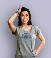 Uniwersytet dobrego nauczyciela t-shirt damski jasny melanż s