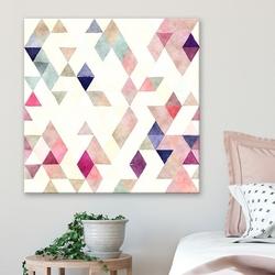 Modny obraz na płótnie - triangular pastel , wymiary - 60cm x 60cm
