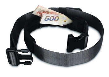 Tajna kieszeń, pasek ze schowkiem na pieniądze, telefon pacsafe cashsafe 25