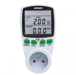 Watomierz licznik energii 2-taryfowy do gniazdka orno or-wat-408 gs - szybka dostawa lub możliwość odbioru w 39 miastach