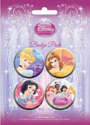 Disney Princesses - zestaw 4 przypinek