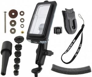 Ram mounts uchwyt z wodoszczelnym futerałem aqua box™ pro 20 i5 do iphone 5, 5c  5s bez etui montowany w trzon widelca w mo