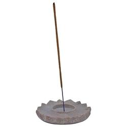 Podstawka do kadzideł kamienna - lotos beżowa