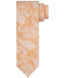 Pomarańczowy krawat profuomo paisley