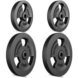 Zestaw obciążeń żeliwnych kierownica 60 kg  2 x 20 kg + 2 x 10 kg mw-2x20kg_2x10kg-kier - marbo sport