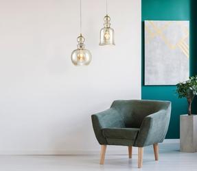 Lampa z kloszem bursztynowym nad stół do kuchni, jadalni tone maytoni p003pl-01bz