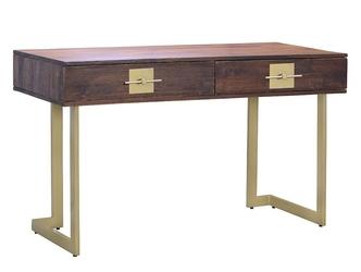 Drewniane biurko madras z metalowymi nogami 138 cm