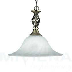 Cameroon lampa wisząca 1 patyna szkło