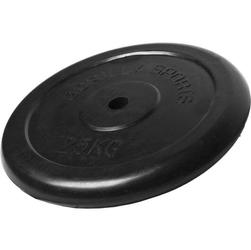 25 kg obciążenie żeliwne gumowane talerz 30 mm gorilla sports