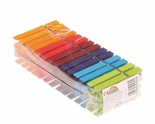 kolorowe drewniane klamerki Grimms