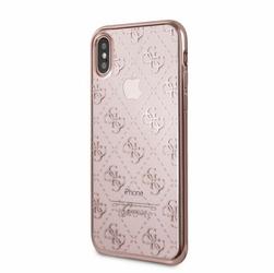 GUESS GUHCPXTR4GRG hardcase iPhone X różowo-złoty 4G Transparent