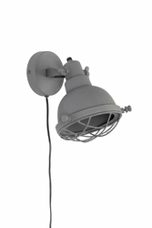 Lampa ścienna EVAN grey mat