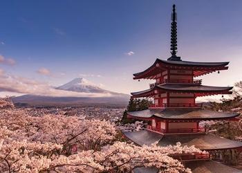 Wulkan Fudżi - plakat na ścianę
