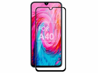 Szkło Alogy Full Glue case friendly do Samsung Galaxy A40 Czarne