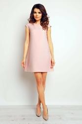 Różowa trapezowa sukienka mini