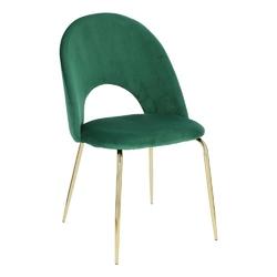 Krzesło solie velvet zielonezłote - zielony