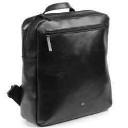 Skórzany męski plecak daag stone 5 czarny - czarny