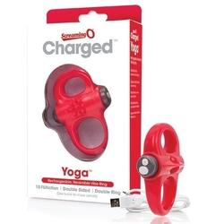 Pierścień wibrujący - the screaming o charged yoga vibe ring red