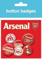 Arsenal godło - zestaw 6 przypinek