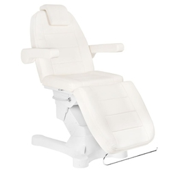 Fotel kosmetyczny elektr. a-207 whiteivory 4 silniki