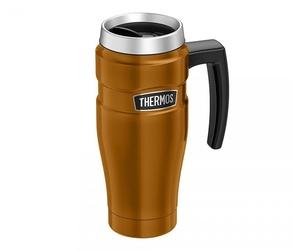 Kubek termiczny thermos travel king 470 ml z rączką miedziany