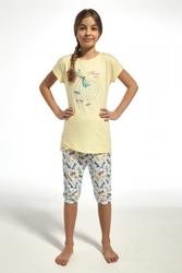 Piżama dziewczęca cornette 25168 kids dragonfly żółty