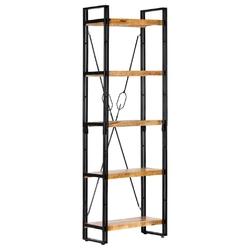 Vidaxl 5-poziomowy regał na książki, 60x30x180 cm, lite drewno mango