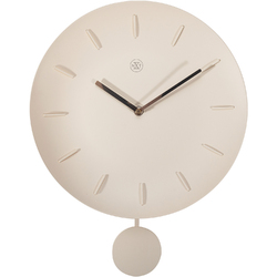 Zegar ścienny z wahadłem Bowl kremowy nXt 30 cm 7339 BE