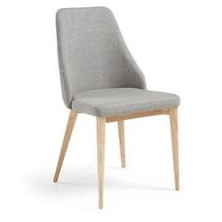Tapicerowane krzesło roxie szare